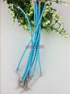 US $12.31 Free Shipping 18cm Length 100pcs Cheap Charm Man-Made Blue Leather Braided Cord Bracelet With Clasp Fit Fashion Jewelry Making #Free #Shipping #18cm #Length #100pcs #Cheap #Charm #Man-Made #Blue #Leather #Braided #Cord #Bracelet #With #Clasp #Fashion #Jewelry #Making