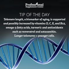 Health Tip of the Day - Get the right nutrients to increase your telomere length!