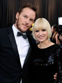 One of our favorite celebrity couples...Anna Faris and Chris Pratt #funny #celebrity