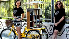 'Bookcycle' peddles a new take on feminism  On a mural-lined corner of Echo Park, a dozen people gather around a tricycle painted a summery yellow. But even more eye-catching than the color is its main feature: a triple-decker shelf filled with books.  http://www.latimes.com/local/great-reads/la-me-c1-feminist-library-20140924-story.html