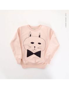 Pink sweater with black cat - Bobo Choses