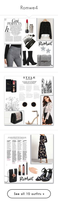 """Romwe4"" by musicajla ❤ liked on Polyvore featuring JULIANNE, Whiteley, Estée Lauder, Humble Chic, Too Faced Cosmetics, Bobbi Brown Cosmetics, H&M, Tom Ford, David Yurman and Maison Scotch"