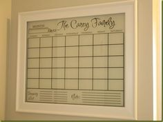 Personalized Erasable Calendar - Home Stories A to Z