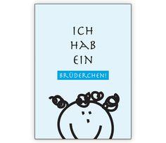 Niedliche Geburtsanzeige hellblau: Ich hab ein Brüderchen - http://www.1agrusskarten.de/shop/niedliche-geburtsanzeige-hellblau-ich-hab-ein-bruderchen/    00012_0_2644, AnzeigeGeburtsanzeige, Baby, BubBruder, Geburt, Geschwister, Gratulation zum Jungen, Grusskarte, Helga Bühler, Klappkarte, Schwester00012_0_2644, AnzeigeGeburtsanzeige, Baby, BubBruder, Geburt, Geschwister, Gratulation zum Jungen, Grusskarte, Helga Bühler, Klappkarte, Schwester