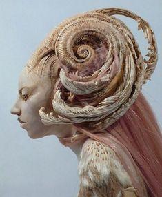 "Fantasy Whimsical Strange Mythical Creative Creatures Dolls Sculptures Virginie Ropars ""Her"" Krabjabstudios Fantasy Creatures, Mythical Creatures, Ooak Dolls, Art Dolls, Ball Jointed Dolls, Toy Art, Beautiful Dolls, Hair Art, Art Inspo"