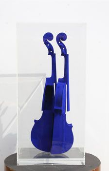 Available for sale from Robin Rile Fine Art, Arman Hommage à Yves Klein Sliced wood violin with blue pigment encased in Plexiglas box,… Contemporary Artists, Modern Art, Nouveau Realisme, Jean Tinguely, Yves Klein Blue, Make Mine Music, Music Corner, Blue Pigment, Blue Life
