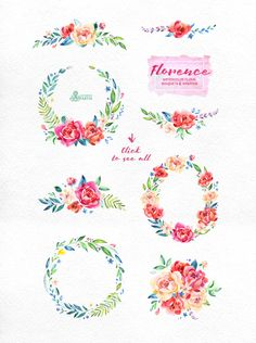 Florence. Floral Collection by OctopusArtis on Creative Market