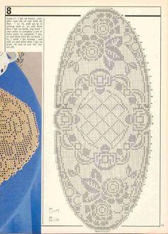 "Photo from album """"Decorative crochet"" on Yandex. Crochet Table Runner Pattern, Crochet Doily Patterns, Crochet Tablecloth, Thread Crochet, Crochet Designs, Crochet Doilies, Crochet Stitches, Filet Crochet Charts, Fillet Crochet"
