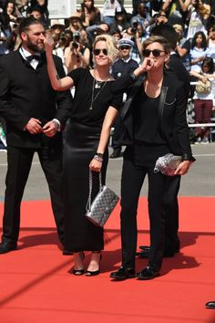 Pin for Later: Girls Just Wanna Have Fun at the Cannes Film Festival Kristen Stewart and Alicia Cargile