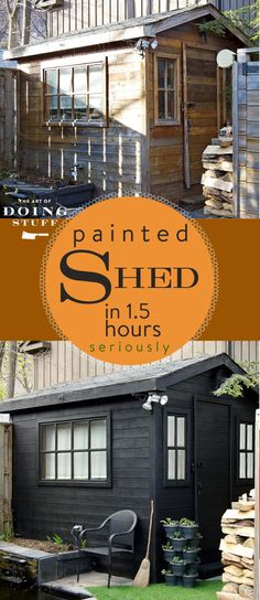I bought a paint spray gun. I painted everything with it. My potting shed, picket fence, front porch & wicker furniture. This shed took hrs!