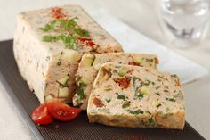 Easy and quick Salmon and Vegetable Terrine recipe Easy and quick Salmon and Vegetable Terrine recipe Salmon Terrine Recipes, Baked Salmon Recipes, Vegetables For Babies, Oven Baked Salmon, Tomato Cream Sauces, Italian Appetizers, Roasted Sweet Potatoes, Mediterranean Recipes, Clean Eating Snacks