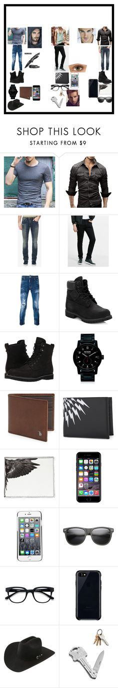 """""""3 amigos"""" by cieradumond on Polyvore featuring Buffalo David Bitton, Express, Dsquared2, Timberland, Nixon, Tod's, Neil Barrett, County Of Milan, Off-White and Kenzo"""