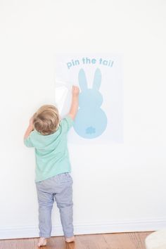 Pin the Tail on the Easter Bunny If you already know how to play pin the tail on the donkey, then you know how this goes. Print this bunny image and tails, break out the blindfolds, and hop to it!