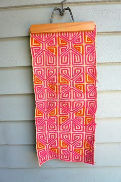 Vintage Mexican Textile Handwoven by LunaParkVintage on Etsy