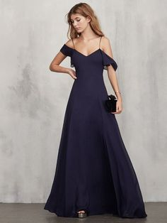 Reformation Lara Dress in Sapphire