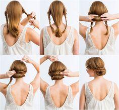 peinados con trenzas fáciles                                                                                                                                                     Más