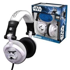 Funko Stormtrooper DJ Headphones These Star Wars Stormtrooper DJ Headphones are among the best audio equipment the Empire has to offer. With a standard 3.5mm audio jack, these unique headphones are fully adjustable and compatible with most iPods, MP3 players and game stations. 40mm drivers.  Price : $37.08 http://www.thinkfasttoys.com/Funko-Stormtrooper-DJ-Headphones/dp/B0040VJ5JC #starwars #headphones