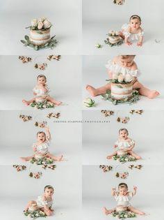 1st Birthday Photoshoot, 1st Birthday Party For Girls, Baby Birthday, Birthday Ideas, Baby Cake Smash, 1st Birthday Cake Smash, Birthday Girl Pictures, First Birthday Photos, Fete Emma