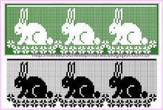 Szydełkomania: Wielkanocne bordiury