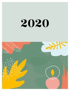 2020 abstract illustrations calendar | Etsy Print Calendar, Stationery, Illustrations, Abstract, Paper, Prints, Etsy, Inspiration, Color