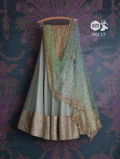 Blue pastel lehenga with contrasting green dupatta!! #weddingdress #weddingcolors #weddingideas #indianwedding #indianbride #bridesmaids #bridesmaiddresses