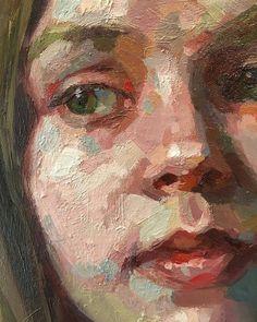Portrait detail by Austin artist Jennifer Balkan Painting People, Figure Painting, Painting Art, Abstract Portrait Painting, Oil Portrait, Portrait Paintings, Guache, Anatomy Art, Impressionist Paintings