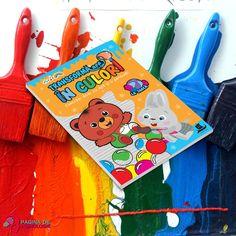 O carte de activități superamuzantă, pe care copiii o pot colora fără se se murdărească!