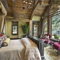 Dramatic Traditional Bedroom by Jerry Locati