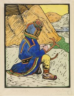 John Savio, «Samegutt ved teltet» Painting Pictures, Pictures To Paint, Lappland, Nordic Art, Wrist Warmers, Christmas Books, Samara, Arctic, Art History