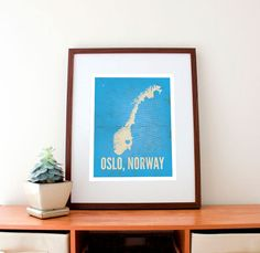 Oslo, Norway Love Print, amycnelson