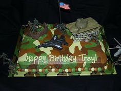 Boys Army Birthday Cake Birthdays Pinterest Army birthday
