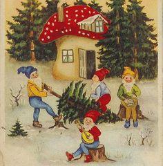 Gnomes At Christmas