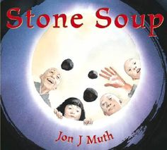 "Great book for Cub Scouts- ""Stone Soup' by Jon J. Muth. Have a den potluck where you prepare a meal together (soup, burritos)- each family brings an ingredient! Requirement #3 of Nutrition belt loop."
