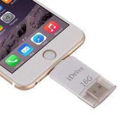Mémoire Externe pour iPhone 6 & 6s, iPhone 6 Plus & 6s Plus, Samsung Galaxy S6 / S5 16GB