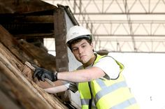 Apprentice, Christopher Richards @RobertWoodhead lifts the roof on 500 years of history #conservation