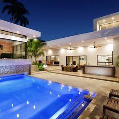 Patio, Alberca y Terraza: Albercas de estilo moderno por Juan Luis Fernández Arquitecto