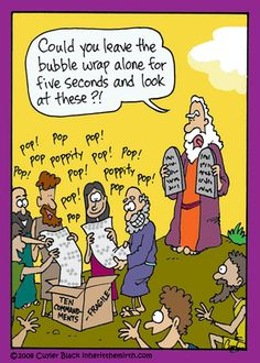 Bubble Wrap Humor: The Children of Israel playing with bubble wrap