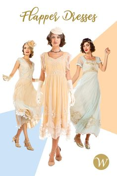 In the 1920s, women known as Flappers completely changed the face of fashion. Perfect for women with a similar point of view, this spectacular collection of 1920s Flapper Dresses features a range of fabulous frocks that capture the spirit of the Roaring Twenties. White flapper wedding dresses are also included for brides who want a wedding day look that is filled with vintage glamour.