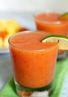 Kick back and relax with this Tropical Papaya Margarita.