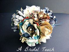 Paper Bouquet Made from Mixed Vintage Papers and by ABridalTouch, $50.00