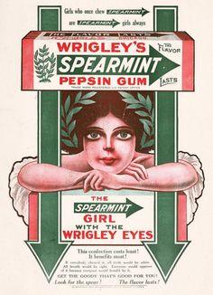 Wrigley's Spearmint Gum, 1911