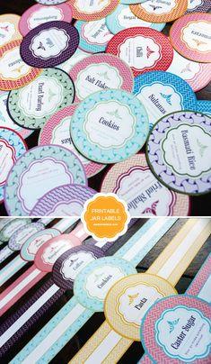 FREE PRINTABLE MASON JAR LABELS (via http://limeshot.com/2012/free-printable-mason-jar-labels) @limeshot