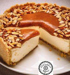 Ricardo& recipe: Caramel and Almond Cheesecake No Cook Desserts, Sweet Desserts, Just Desserts, Sweet Recipes, Delicious Desserts, Dessert Recipes, Yummy Food, Ricardo Recipe, American Desserts
