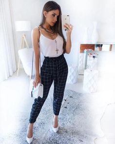 42 best vintage summer outfits ideas you will love 10 - Outfit ideen - Plad Outfits, Mode Outfits, Classy Outfits, Chic Outfits, Trendy Outfits, Fashion Outfits, Womens Fashion, Formal Outfits, Overalls Outfit
