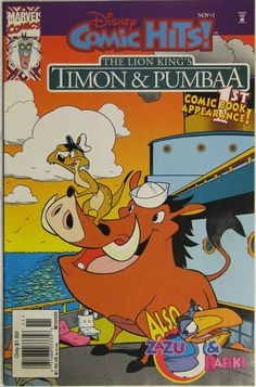 Disney Comics Comic Hits featuring the Lion King's Timon and Pumbaa.  Lion King