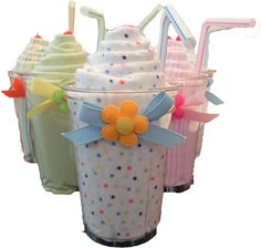 Baby Shower Gift Idea: Receiving Blanket Milkshake