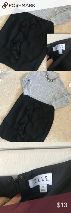 Ruffle shirt ! In mint condition, used once for a meeting, cleaned and stored.  I don't trade, but I accept reasonable offers ❤️ Bundle your favs for a private discount❤️ Let's be instagram homies! Mindy_arroyo Elle Skirts