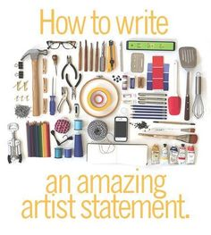 """Pick up your pencil and get started on your Artist Statement! Find out how at <a href=""""http://www.ArtsyShark.com"""" rel=""""nofollow"""" target=""""_blank"""">www.ArtsyShark.com</a>"""