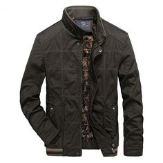 Jackets Solid Fashion Casual Slim Stand Collar