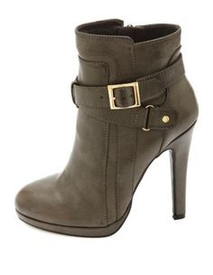 belted high heel ankle booties $42.99 charlotterusse.com